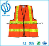 Veste elevada da segurança da visibilidade com tiras reflexivas