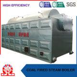 Combustible solide du charbon et de granulés de bois de feu chaudière à vapeur de tube