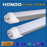 luz accionada Dual-Fin boscoso caliente blanco los 4FT fresco del tubo de la cubierta T8 LED del blanco 9W (20W equivalente fluorescente) /18W (40W equivalente de los 2FT fluorescente)