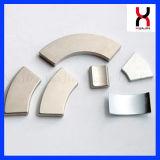 El neodimio hierro Boro fuerte imán de segmento de arco