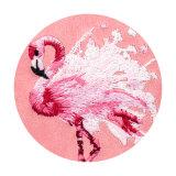 Caixa animal do telefone do bordado dos desenhos animados dos pássaros bonitos do flamingo para o iPhone X