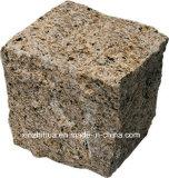 G602/G603/G439 회색 화강암 포장 기계 돌 화강암은 포장 기계 자갈 포석 넘어졌다