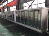 Refrigerador de vidro vertical do indicador da porta da capacidade grande de Multideck do supermercado