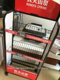 El almacén del supermercado bebe el pequeño estante del alambre de visualización de la bebida metálica del estante
