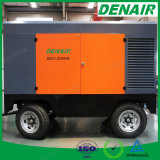 Compresor de aire portable remolcable movible del tornillo del motor diesel para las perforaciones Drilling