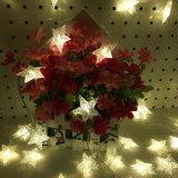 電池式LEDの暖かく白い妖精のクリスマスの星ストリングは祝祭のための装飾ライトをつける