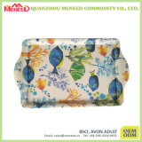 De volledige Steen van de Vlinder van het Af:drukken van de Kleur beëindigt het Dienblad van de Snack van de Melamine