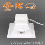 UL Es encastrés de 6/8 pouce carré LED Spot encastrable