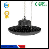 Indicatore luminoso nero esterno del UFO LED Highbay del chip 100With150With200W dell'indicatore luminoso CREE/Bridgelux dell'UL