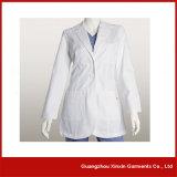 2017 neuf daignent docteur Gown, la longue couche blanche de laboratoire de chemise (H4)