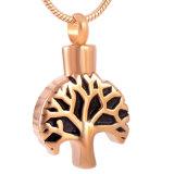 Juwelen van de Crematie van het Roestvrij staal van de Halsband van de Urn van het Ontwerp van de boom de Herdenkings