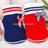 De nieuwe Warme Sweater van de Hond van Bowtie Red&Blue van de Aankomst Comfortabele