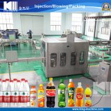 Производственная линия воды в бутылках и сока