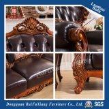 Canapé en cuir de bois solide avec le nouveau style classique (N271)