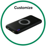 Qi Wireless cargador de coche de 360 grados con soporte magnético