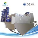 El tratamiento de aguas residuales municipales Self-Cleaning prensa de tornillo de la máquina de deshidratación de lodos
