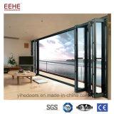 Portello di piegatura di vetro di alluminio di garanzia di qualità