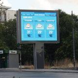 Ángulo de visión amplio al aire libre de 140 grados P8 LED que hace publicidad de la visualización