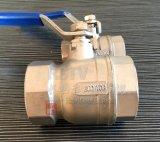 Válvula de esfera da linha fêmea 2PC de aço inoxidável do molde