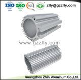 Anodize perfil de aluminio de extrusión de aluminio plateado para el motor Shell
