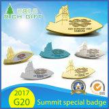 Emblema 2017 especial do metal do emblema da lembrança da prata do ouro do Pin do Lapel dos líderes da cimeira de Alemanha Hamburgo G20