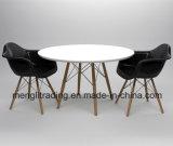 Черный обеденный стол и стул набор из 2