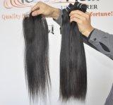 100% virgem reta de Seda Peruano Remy de cabelo humano Prorrogação Lbh 080