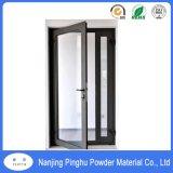 Preto fosco) Portas e janelas exteriores de grãos revestimento em pó de poliéster
