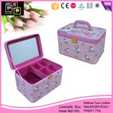 Comercio al por mayor Lovely Kitty de cuero impresión personalizada maquillaje cosmético Box (8211)