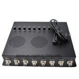 10W 8 채널 통신로 경보 RF 이동할 수 있는 셀룰라 전화 GSM GPS 신호 방해기 또는 절연체 차단제