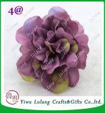 12cm에게 실크 로즈 꽃 헤드를 만드는 꽃 벽