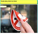 Doppia autoadesivo statico del vinile delle decalcomanie stampato pellicola su ordinazione della finestra laterale