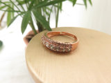 De charmante Ring van het Messing van het Koper van het Ontwerp van de Diamant van de Steen van CZ Klassieke voor Vrouwen