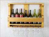 Der neueste hölzerne an der Wand befestigte Wein-Halter für Hauptmöbel