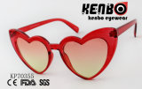 Plein coeur de la forme des lunettes de soleil en polycarbonate PK70355