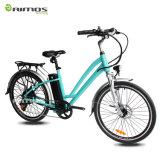Bici eléctrica verde de la ciudad de la protección del medio ambiente de Aimos para la señora