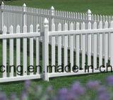 Cerca blanca del jardín del PVC de la prueba ULTRAVIOLETA