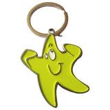 Kundenspezifischer Metalldecklack-grüne Farben-Anfang Keychain/Schlüsselring/Schlüsselhalter (YB-HD-192)