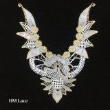 33*44cm Collier en dentelle garniture d'or, à double tranchant de la dentelle, accessoires de couture avec Olive Branch hme959