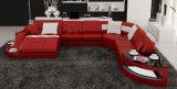 Novo design vermelho Mobiliário Residencial Sala sofá de couro (HC1100)