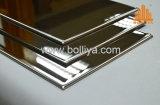 Le balai de délié de miroir balayé gravé en relief gravent le panneau Polished de décoration d'acier inoxydable