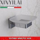 Plato de jabón plateado cromo del diseño del cuadrado del cuarto de baño
