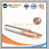 carboneto de tungsténio plana/Nariz de Esferas/ Extremidade Esférica Mill com 4 estrias