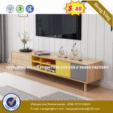 Tavolino da salotto di vetro della mobilia di modo della melammina di legno di disegno (HX-8NR0666)