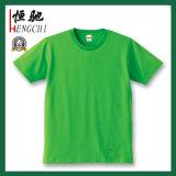 T-shirts ronds de coton de couleur solide du collet des hommes de mode