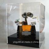 Duidelijke Acryl ModelVitrine Lego met Zwarte Basis