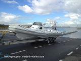Liya 11-27feetの堅い外皮の膨脹可能なボートの製造業者のセリウムの肋骨のボート