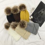 Pelliccia promozionale Keychain del Faux del regalo di colore del Raccoon della sfera Mixed della pelliccia