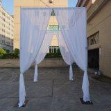 Populäres justierbares quadratisches Hochzeits-Hintergrund-Stand-Rohr und drapieren en gros