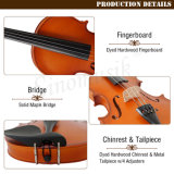 Le satin mat Instrument de musique de violon débutant de contreplaqué